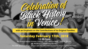 Venice, CA Black History Month 2018